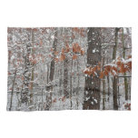 Snow Covered Oak Trees Winter Nature Photography Kitchen Towel