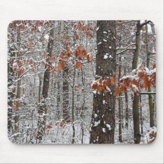 Snow Covered Oak Trees Winter Nature Photography Mouse Pad