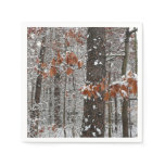 Snow Covered Oak Trees Winter Nature Photography Napkin
