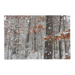 Snow Covered Oak Trees Winter Nature Photography Placemat