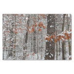 Snow Covered Oak Trees Winter Nature Photography Tissue Paper