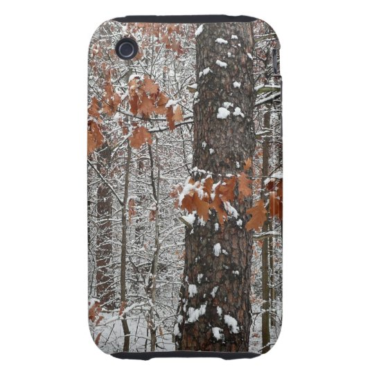 Snow Covered Oak Trees Winter Nature Photography Tough iPhone 3 Cover