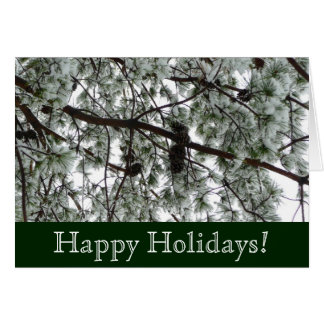 Snow Covered Pine Holidays Card