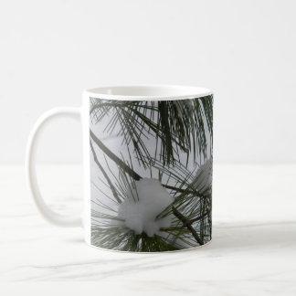 Snow Covered Pine Needles Coffee Mug