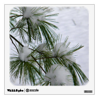 Snow Covered Pine Needles Wall Sticker