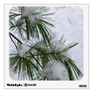 Snow Covered Pine Needles Room Sticker