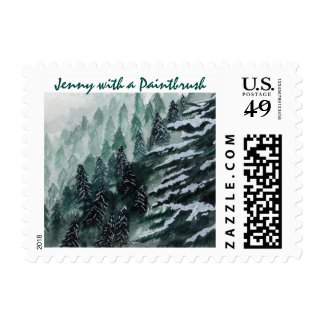 Snow Covered Pine Stamps