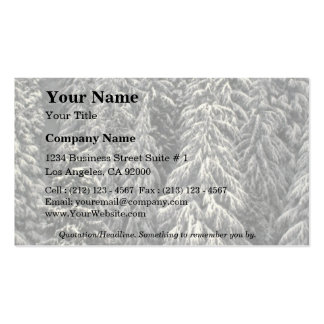 Snow-covered pine trees Double-Sided standard business cards (Pack of 100)