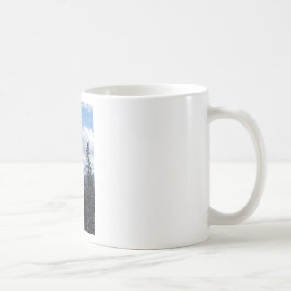 Snow Covered Pines Classic White Coffee Mug