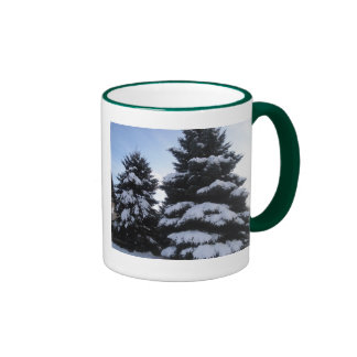 Snow Covered Pines Mug