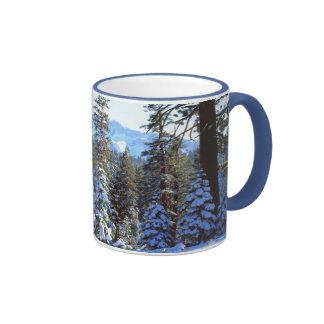 Snow-covered Red Fir trees in the High Sierra 2 Ringer Mug