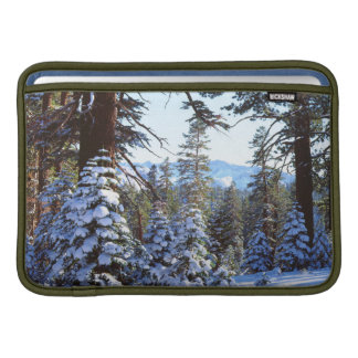 Snow-covered Red Fir trees in the High Sierra 2 Sleeve For MacBook Air