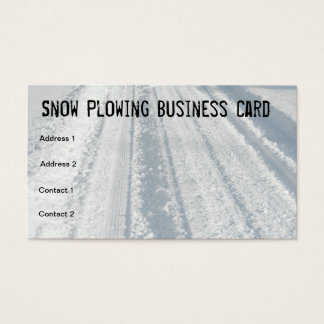 Snow Covered Road Snow Plow Business Card