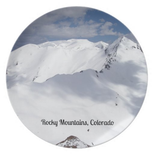 Snow Covered Rocky Mountains, Colorado Plate