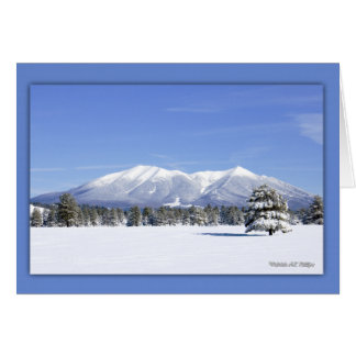 Snow Covered San Francisco Peaks Greeting Card