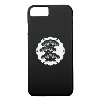 Snow-covered three-tiered pine in rice cake iPhone 7 case