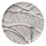 Snow Covered Tree 2 Plate