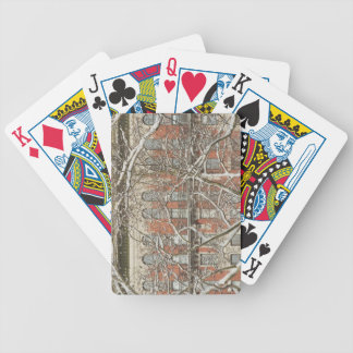 Snow Covered Tree Bicycle Playing Cards