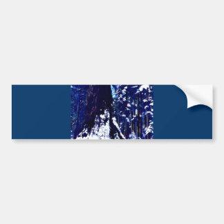 Snow Covered Tree Bumper Sticker
