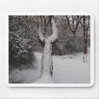 Snow Covered Tree In Epping Forest Mousepads