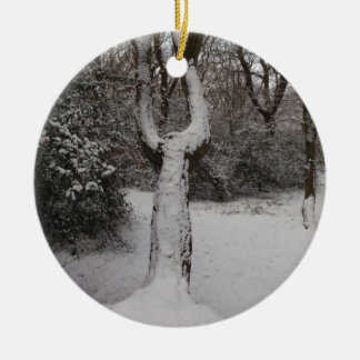 Snow Covered Tree In Epping Forest Ornaments