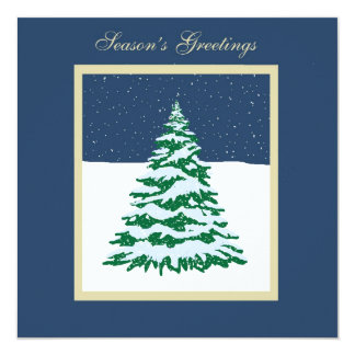 Snow Covered Tree Custom Invites