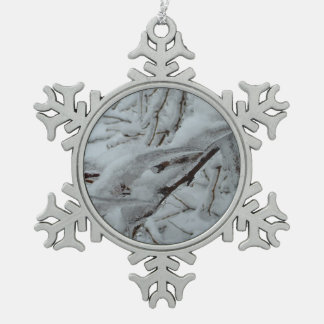 Snow Covered Tree Ornament