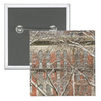 Snow Covered Tree Pinback Button