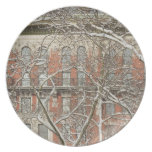 Snow Covered Tree Plate