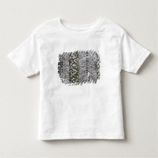 Snow covered tree trunks in Yosemite valley - Toddler T-shirt