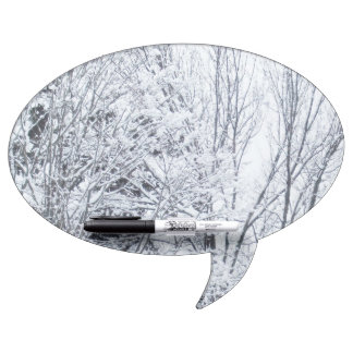 Snow Covered Trees Dry-Erase Board