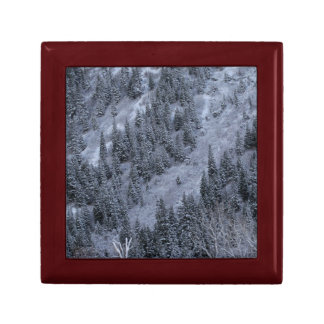 Snow-covered Trees Gift Box for Your Cabin