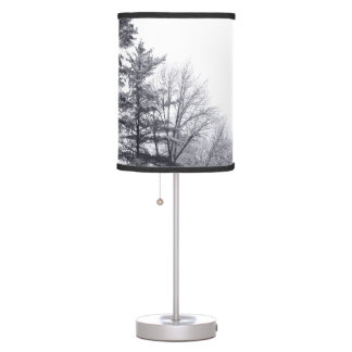 Snow-covered Trees: Horizontal Desk Lamp