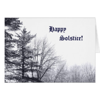 Snow-covered Trees: Horizontal Greeting Card
