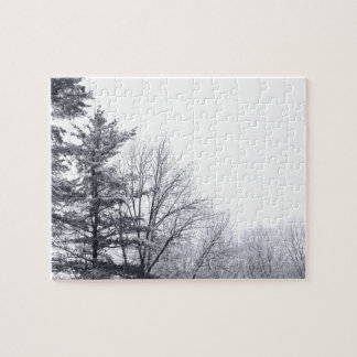 Snow-covered Trees: Horizontal Jigsaw Puzzle