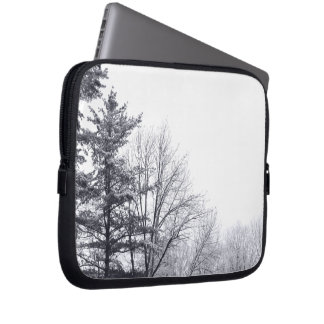 Snow-covered Trees: Horizontal Laptop Sleeves