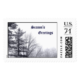 Snow-covered Trees: Horizontal – Large Postage Stamp