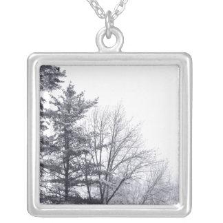 Snow-covered Trees: Horizontal Pendant