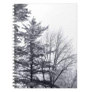 Snow-covered Trees: Horizontal Notebook