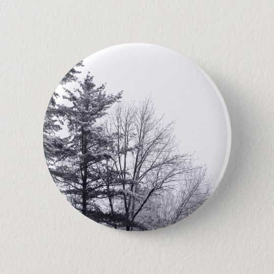 Snow-covered Trees: Horizontal Pinback Button