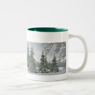 Snow Covered Trees Mug