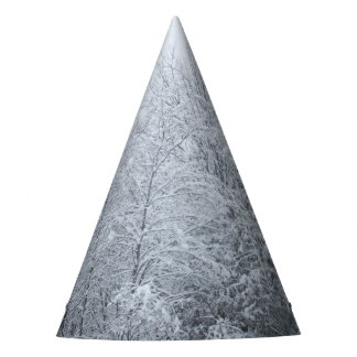 Snow Covered trees Party Hat