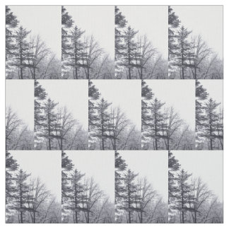 Snow-covered Trees Photo Fabric