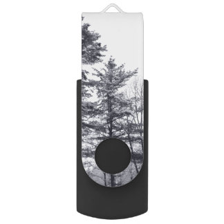 Snow-covered Trees USB Flash Drive