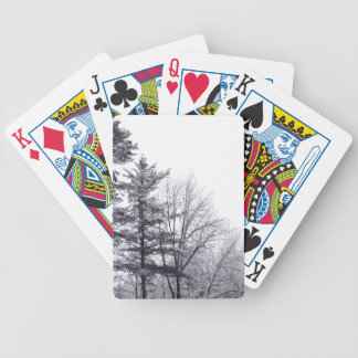 Snow-covered Trees: Vertical Bicycle Playing Cards