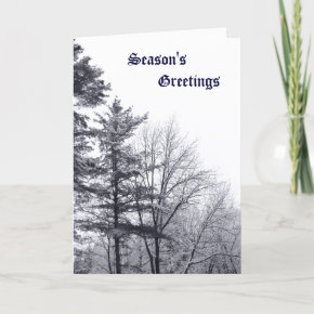 Snow-covered Trees: Vertical Greeting Card