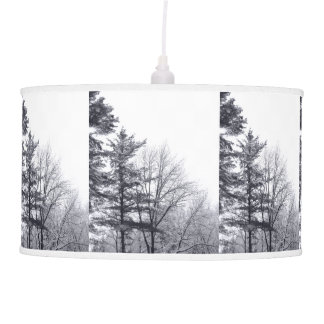 Snow-covered Trees: Vertical Ceiling Lamp