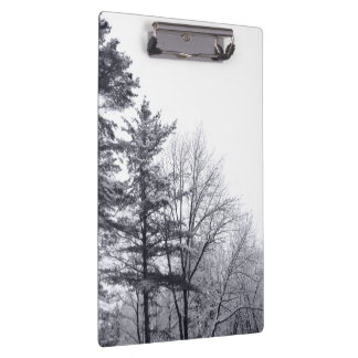 Snow-covered Trees: Vertical Clipboard