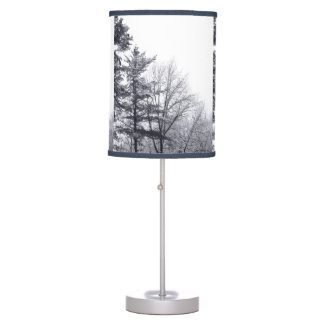 Snow-covered Trees: Vertical Desk Lamp
