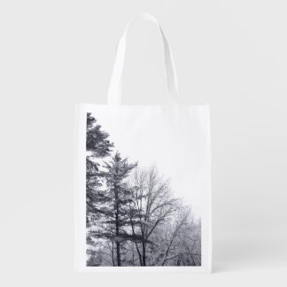 Snow-covered Trees: Vertical Grocery Bag